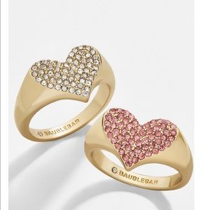 Baublebar! Pave Heart Pinky Ring